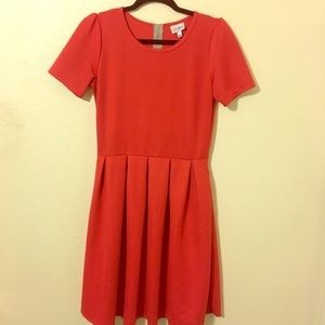 Medium red LuLaRoe Amelia dress